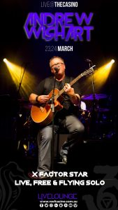 The Reef Hotel Casino presents Andrew Wishart for two nights this March @ BAR36