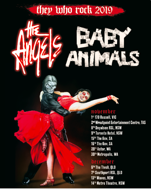 The Angels - Baby Animals tour