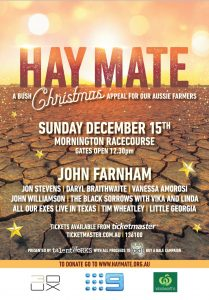 Hay Mate – A Bush Christmas Appeal For Our Aussie Farmers @ Mornington Racecourse, MORNINGTON VIC