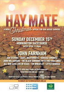 Hay Mate – A Bush Christmas Appeal For Our Aussie Farmers @ Mornington Racecourse, MORNINGTON VIC